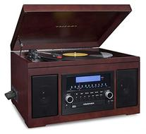 Crosley CR2415A-MA Cannon Turntable with Radio, CD Player,