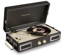 CR40-BK Mini Turntable with Full-Range Stereo Speakers,