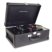 Crosley Radio CR49-BK Traveler Portable Turntable in Black