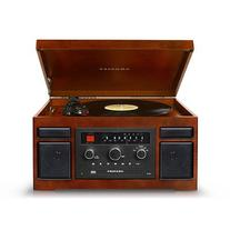 Crosley CR7007A-MA Patriarch Turntable with Radio, CD Player