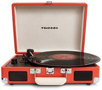 Crosley CR8005A-OR Cruiser Portable 3-Speed Turntable,