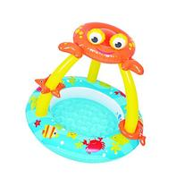 Balance Living Crab Canopy Toddler Pool with Inflatable Toy