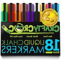 Crafty Croc Liquid Chalk Markers, Jumbo 18 Pack, , Neon Plus