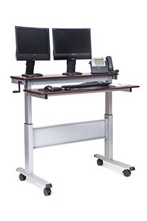 48-Inch Crank Adjustable Height Stand Up Desk with Steel