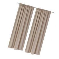 vidaXL 2 pcs Cream Slot-Headed Blackout Curtains 53 x 96