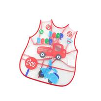 Creative Red Car Pattern Children Smocks Waterproof Aprons