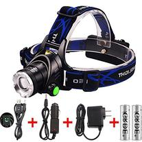 GRDE Zoomable 3 Modes Super Bright LED Headlamp with