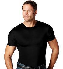 Insta Slim Compression Crew-Neck T-Shirt, Black, Extra Large