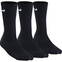 Nike Performance Crew Kids' Socks  Black/White Sz Small 3Y-