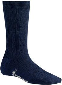Women's Smartwool 'Cable II' Crew Socks, Size Medium - Blue