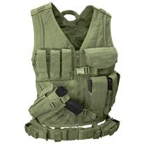 Cross Draw Tactical Vest - Color: Od Green - Medium / Large