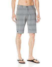 Billabong Men's Crossfire X Stripe Shorts, Grey, 30
