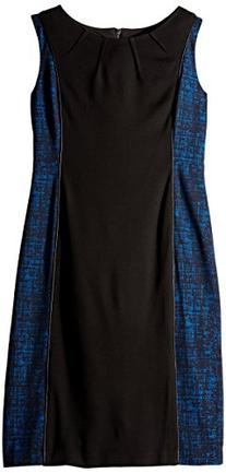 Anne Klein Women's Crosshatch Jacquard Mixed Media Dress,