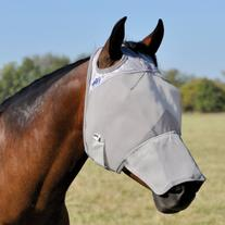 Cashel Crusader Fly Mask with Long Nose - Size: Warmblood
