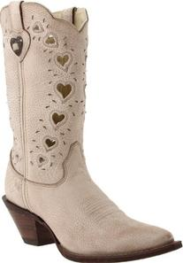 Durango Women's Crush Heart Western Boot,Beige,8 B US