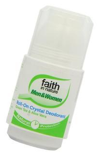 Faith in Nature Roll on Crystal Deodorant Aloe Vera & Green