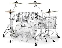 Pearl Crystal Beat 5-Piece Drum Shell Pack - Ultra Clear
