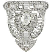 Kenneth Jay Lane Art Deco Crystal Brooch