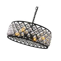 LNC Crystal Pendant Lighting Black Chandeliers