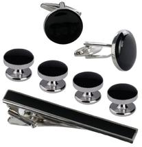 Cufflinks and Studs Set for Tuxedo in Formal Black with