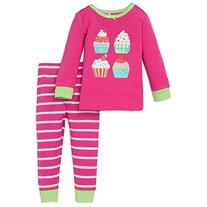 Little Me Little Girls' Cupcakes 2 Piece Cotton Toddler