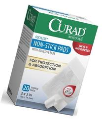 Curad Non-Stick Pads, 2 Inches X 3 Inches with Adhesive Tabs