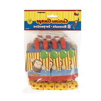 Curious George Party Blowouts 8 Pack