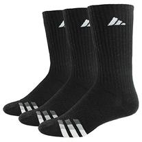 adidas Men's Cushion Crew Socks , Black/White/Light Onix/