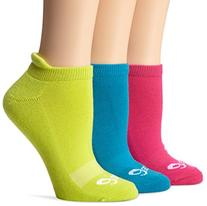 ASICS Women's Cushion Low Socks, Magenta Assorted, Large