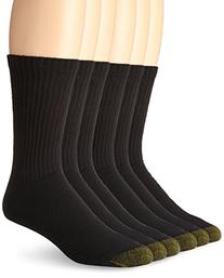 Gold Toe Men's Crew 656s Athletic Sock, 6 Pack Black, Shoe