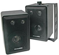 MCM Custom Audio 3 Way Indoor/Outdoor Spearker Pair -Black