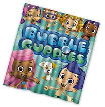 Custom Cartoon Bubble Guppies Pattern Waterproof Bathroom