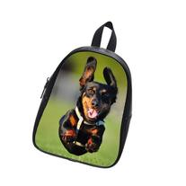 Custom Fashion Childrens Backpacks Flying Dachshund Student