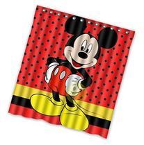 Custom Mickey Mouse Pattern Waterproof Bathroom Shower
