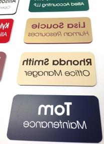 "Custom Name Badges / Name Tags - 1.5"" x 3"" - Up to three"
