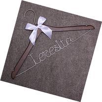 Custom Name Personalized Bride Wedding Hangers-Custom