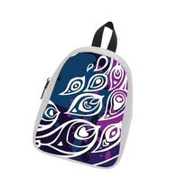 Custom Fashion Childrens Backpacks Beautiful Peacock Feather