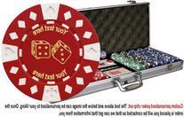 Custom Poker chip Set: Lucky Dice image & your custom text