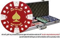 Custom Poker chip Set: Spade image & your custom text