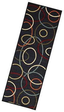 Custom Size Runner Coal Black Multicolor Oval Shapes
