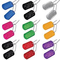 Custom US Military Dog Tags - Includes Two Personalized ID