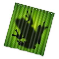 "Custom Waterproof Fabric Bathroom Shower Curtain Frog 66"" x"
