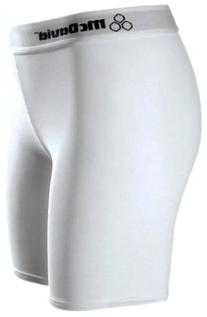 McDavid Womens Cut Mid-Length Compression Shorts, White,