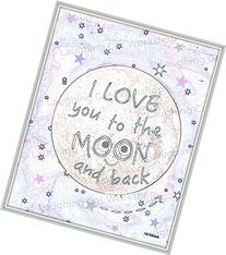 Cute baby print, I Love You to the Moon and Back, funny kid