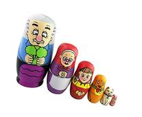 Cute Bright Color Sweet Family Pattern Handmade Wooden