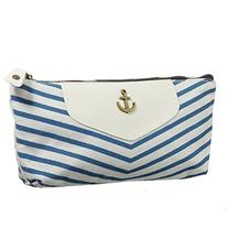 Eforstore New Cute Canvas Navy Style Pen Pencil Pouch Case