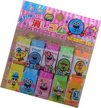 DAISO Cute Fruit Scented Erasers 10pcs from Japan