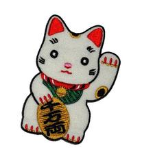 Cute Maneki-neko Japan Japanese Lucky Cat DIY Embroidered