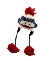 Cute Monkey Hat Blue Baby