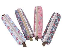 FOONEE Cute Polka Dot Flower Style Pounch Pen Bag